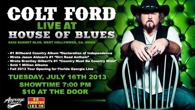 Groovy Go Country 105 Win Tickets To See Colt Ford At House Of Blues Download Free Architecture Designs Rallybritishbridgeorg