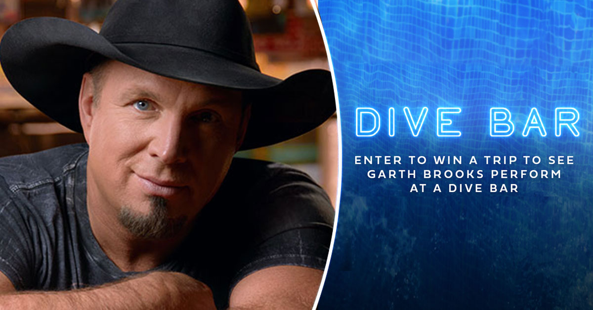 Win a trip to see Garth Brooks perform at a dive bar